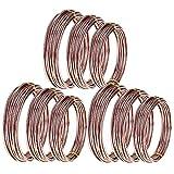CUHAWUDBA 9 Rollos Bonsai Wires Alambre de Entrenamiento de Aluminio Anodizado Bonsai con 3 TamaOs (1.0 Mm, 1.5 Mm, 2.0 Mm), Total 147 Pies (MarrN)
