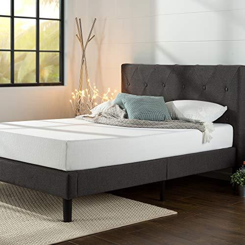 ZINUS Shalini Upholstered Platform Bed Frame / Mattress Foundation / Wood Slat Support / No Box...