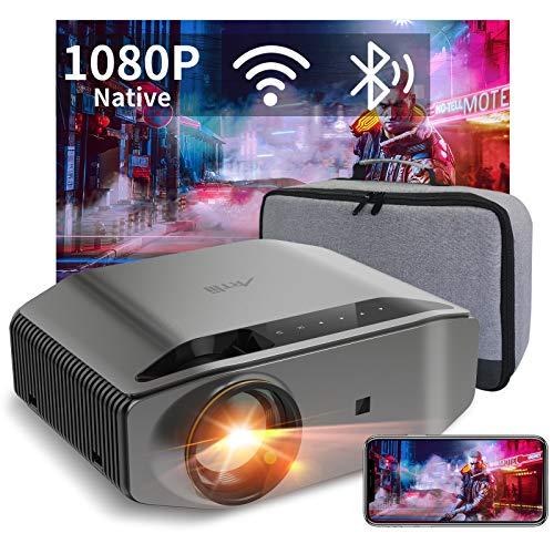 Videoprojecteur Full HD WiFi Bluetooth - Artlii ENERGON 2,Retroprojecteur 1080P natif,Soutiens 4K, Projecteur Compatible iOS, Android Téléphone pour Films,Jeux Nintendo Switch PS4/5