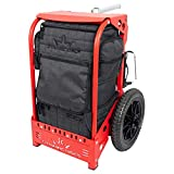 Dynamic Discs Backpack Disc Golf Cart by ZÜCA | Red | Disc Golf Bag Cart | 51' Telescoping Handle | Fits Most Disc Golf Backpack Bags