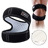 Patella Knee Strap for Running,Knee Stabilizing Brace Support for Tendonitis,Osgood schlatter,Arthritis, Meniscus, Tear,Runners,Chondromalacia,Injury Recovery,Sports,12'-18'