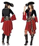Costume de Carnaval Combinaison Mascarade Pirate Princesse Déguisement Femme...