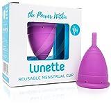 Coppetta mestruale riutilizzabile Lunette - Viola - Modello 2 per flussi normali o abbondanti (EN...