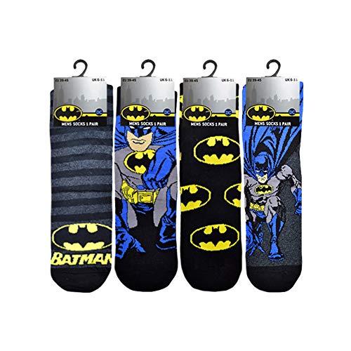 12 paia di calzini da uomo e donna, con licenza per Super Hero Hulk Marvel Batman ( 6 - 11 ) Taglia...