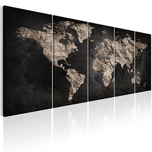 murando Quadro Mappamondo 200x80 cm Stampa su tela in TNT XXL Immagini moderni Murale Fotografia Grafica Decorazione da parete Mappa Mondo - k-A-0296-b-m