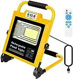 Projecteur Rechargeable LED 60W Portable Projecteur Chantier Lampe Chantier...