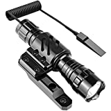 Feyachi FL14 Mlok Flashlight 1200 Lumen Tactical Flashlight with M-Lok Rail Mount for Outdoor Hunting Shooting - Rechargeable 18650 Batteries and Pressure Switch Included