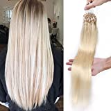 Extension Cheveux Naturel a Froid Micro Loop Micro Anneaux 100 Mèches 50g...