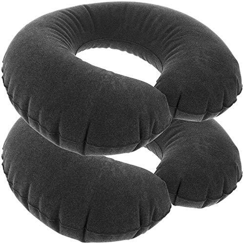 com-four 2X Coussin Cervical Gonflable - Coussin Cervical Confortable -...