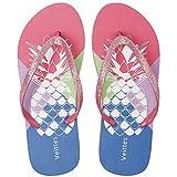 Veittes Kid's Girl Flip Flops, Little/Big Girls Slip On Beach Thong Sandals with Mermaid Unicorn Pineapple Printed for Younger Older Children.(2005002,RD/PA,13) (Apparel)