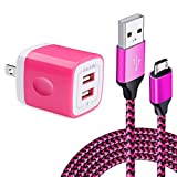 AILKIN Wall Charger Quick Charge Miro Android Charger Cord Cable for PS4/Xbox One Controller, Samsung Galaxy S7/S6/S5, Note5, J8/J7/J6/J5, Huawei Honor 7X, Motorola Moto G5S/G4 Micro USB Power Cord