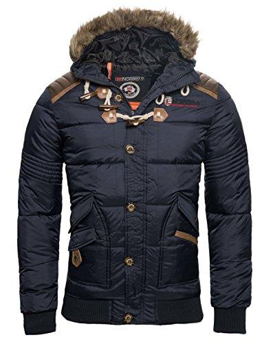 Geographical Norway Chaqueta de invierno para hombre, acolchada gris oscuro L