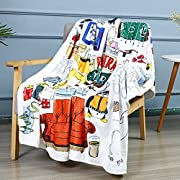 Material: 100% High Quality flannel fabric.Super soft fleece is great for all seasons. Our soft to touch blanket allows for a comfortable night's sleep. Available in 3 sizes, suitable for kids, adults, parents and grandparents! Please confirm the siz...