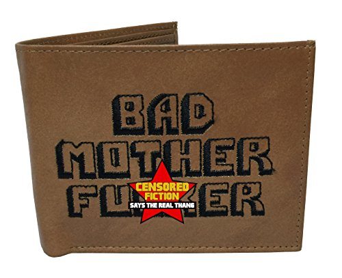 BMF Embroidered Genuine Leather Wallet Brown Authentic BMF