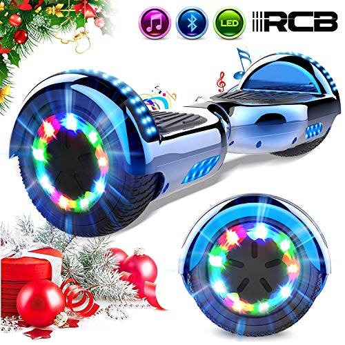 RCB Scooter Elettrico 6.5 inch Auto-bilanciato con luci sulle Ruote Bluetooth per Adulti e BAMB...