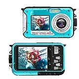Appareil Photo Etanche Full HD 2.7K 48 MP Appareil Photo étanche Selfie Dual Screens Camescope 16X...