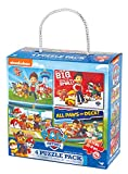 Nickelodeon PAW Patrol 4-Pack Jigsaw Puzzles for Families, Kids, and Preschoolers Ages 4 and Up