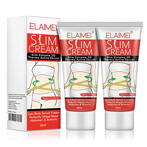 Hot Cream (2 Pack), Slimming Firming Anti-Cellulite Massage Cream,Fat Burning Weight Losing Moisturizer Gel for Shaping Waist, Abdomen and Buttocks 1