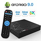 Sidiwen Android 9.0 TV Box T95 MAX Smart Box 4GB RAM 32GB ROM H6 Quad-Core CPU Support 6K 4K H.265 Ethernet 2.4GHz WiFi USB 3.0 Video Player