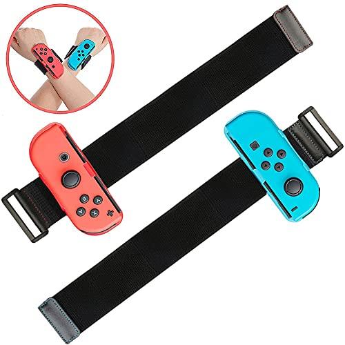 Armbänder für Just Dance 2021 2020 2019, 2er Pack Wrist Strap für Nintendo Switch Sportspiel, Einstellbare Elastische Joy Con Handgelenksband Tanzgriff Grips