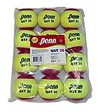 Penn QST 36 Tennis Balls - Youth Felt Red Tennis Balls for Beginners, 12 Ball Polybag