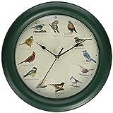 Mark Feldstein Original Singing Bird Clock, 10.7-Inch