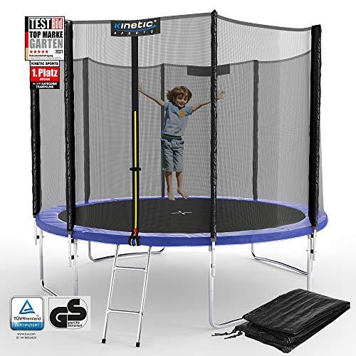 Kinetic Sports Outdoor Gartentrampolin Ø 305 cm, TPLS10, inklusive Sprungtuch aus USA PP-Mesh...