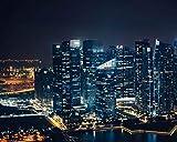 Kpoiuy Pintar por NúMeros DIY Rascacielos Noche Ciudad Vista Desde Arriba DecoracióN De La Boda De La Lona Imagen del Arte Regalo 40 * 50CM Sin Marco