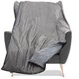Quility Weighted Blanket with Soft Cover - 20 lbs Full Size Heavy...