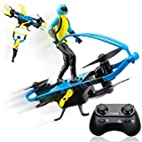 Force1 Stunt Rider RC Mini Drone for Kids - Remote Control Indoor Beginner Drone Flying Toy with Multiple Flying Modes and Action Figure