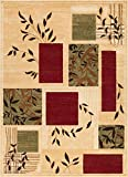 Well Woven Great Forest Ivory Floral Nature Modern Formal Area Rug 8x10 8x11 (7'10' x 9'10') Easy to Clean Stain Fade Resistant Shed Free Traditional Transitional Soft Living Dining Room Rug
