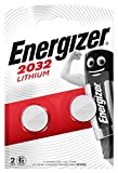 Energizer CR2032 Piles Bouton au Lithium, Lot de 2