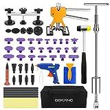 BBKANG Paintless Dent Repair Remover Removal Tool Kit 60pcs Professional Car Dent Remover Tools Bridge Puller T Puller Hot Glue Tap Down Kits