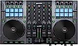 Gemini Sound G2V Professional Audio Interface 4-Channel MIDI Mappable Virtual DJ Controller Deck with Touch Sensitive Jog Wheels, XLR outputs, Metal Enclosure