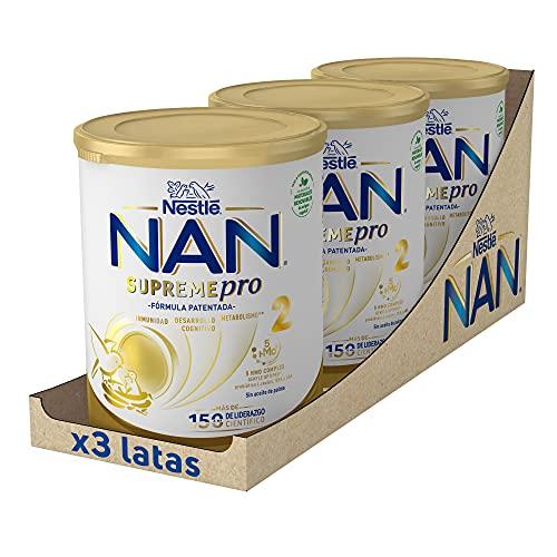 NAN SUPREMEpro 2 Leche De Continuación En Polvo Premium - 3 latas x 800 g