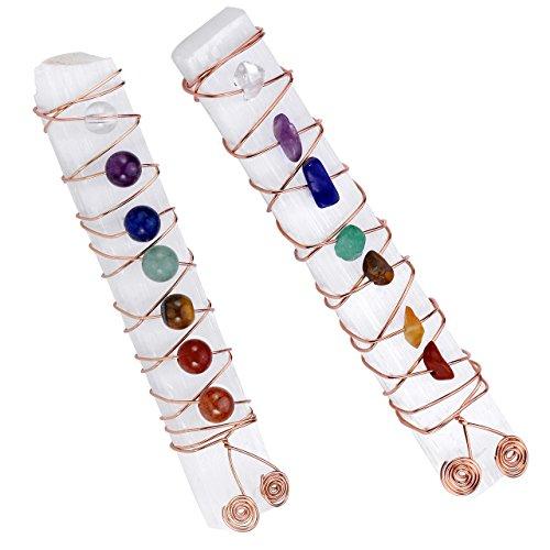 Top Plaza 7 Chakra Reiki Healing Crystal Copper Wire Wraped...