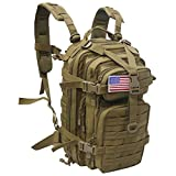 Small 30L Rucksack Military Tactical Backpack Flag Patch Outdoors Bug Out...
