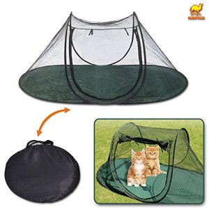 Strong Camel Portable Pet Fun House Cat Dog Playpen Feline Funhouse Outdoor Mesh Tent Foldable Exercise Tent with Carry Bag
