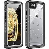 Huakay iPhone 6 Waterproof Case iPhone 6s Waterproof Case IP68 Certified Shockproof Dirtproof 360° Full Body Protection Waterproof for iPhone 6/6s (Black/Clear)(4.7inch)
