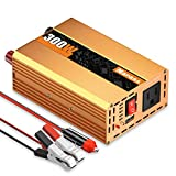 300W Power Inverter DC 12V to AC 110V Converter with USB Charging Ports for Tablets, Laptop and Smartphones