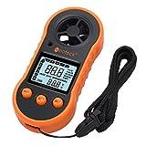 Neoteck Numérique LCD Anémomètre Vent Vitesse Compteur Air Flux Thermomètre avec...