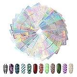 144 piezas de pegatinas para uñas, pegatinas de vinilo, plantilla Hanyousheng, 24 hojas, 72 diseños diferentes, ...