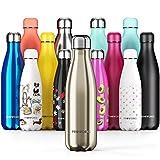 Proworks Bouteille d'eau Isotherme, sans BPA, Gourde INOX Reutilisable pour...