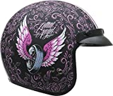 Vega Helmets Unisex-Adult Open Face Motorcycle Helmet (Lethal Angel Graphic, Large)
