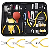 Professional Watch Repair Tool Kit - Watchmaker Tool Kit, Including Watch Back Case Holder Opener Link Remover Spring Bar Tool Set and More, Storaged in Carry Case (141pcs)