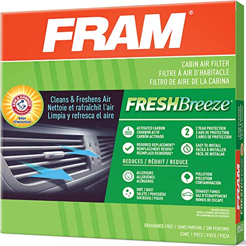 FRAM Fresh Breeze Cabin Air Filter with Arm & Hammer Baking Soda, CF8791A for GM Truck Vehicles