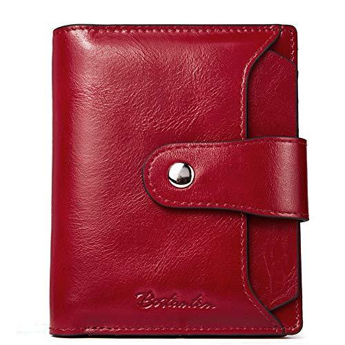 BOSTANTEN Women Leather Wallet RFID Blocking Small...