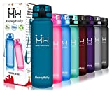 HoneyHolly Water Bottle with Time Marker 350/500/800ml/1L Leakproof BPA-Free Reusable Tritan Plastic Large Sports Water Bottles with Filter Eco Friendly for Kids School Fitness Bike Camping Hiking