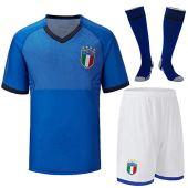Cytech Italia Maglia da Calcio, Bambino Adulto Maschio Italia Squadra Nazionale Calcio Maglia, T-Shirt Pantaloncini Calze (Bambino/24 (135-145cm))