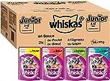 Whiskas Junior - Sachets Fraîcheur pour Jeune Chat et Chaton...